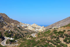 Dorf Olympos auf Karpathos Stockbilder