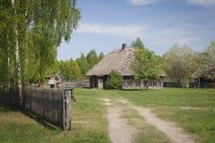 Dorf in Polen Lizenzfreies Stockbild