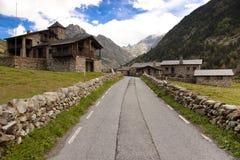 Dorf - Pyrenees Lizenzfreies Stockfoto