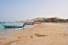 Dorf Qalansiya, Socotra, der Jemen Lizenzfreies Stockfoto