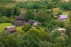 Dorf in Russland Stockbilder