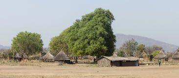 Dorf in Süd-Sudan Stockfoto