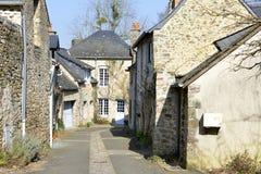 Dorf Sainte-Suzanne in Frankreich Lizenzfreie Stockbilder