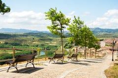Dorf San Vicente de la Sonsierra, Spanien lizenzfreie stockfotografie
