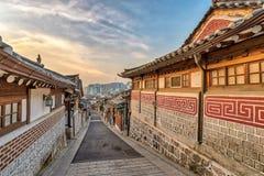 Dorf Seoul Südkorea Bukchon Hanok Stockfotos