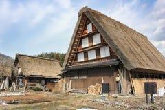 Dorf shirakawago bei Japan auf Winter Lizenzfreies Stockbild