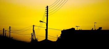 Dorf-Skyline Stockfoto