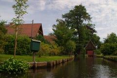 Dorf in Spreewald Stockbilder