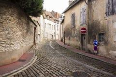 Dorf-Straße in Frankreich Lizenzfreies Stockfoto