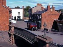 Dorf-Straße, schwarzes Land-Museum, Großbritannien. Lizenzfreie Stockfotografie