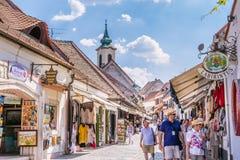 Dorf Szentendre in Ungarn Stockbild