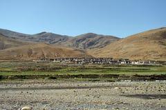 Dorf in Tibet Lizenzfreies Stockfoto