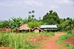 Dorf in Uganda Lizenzfreie Stockbilder