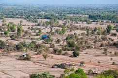 Dorf um Wat Phu Si am Störung-PA sak Stockbild