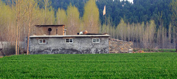 Dorf im Frühjahr Lizenzfreie Stockfotografie