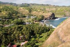 Dorf und Bucht Kahakuloa Lizenzfreies Stockfoto