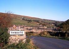 Dorf und Landschaft, Thwaite, Yorkshire-Täler. Lizenzfreies Stockbild