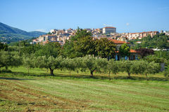 Dorf Velletri italienisches Italien-Panorama lizenzfreies stockbild