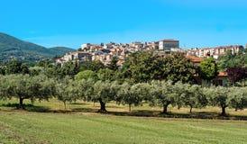 Dorf Velletri italienisches Italien-Panorama lizenzfreie stockfotos