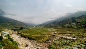 Dorf in Vietnam Stockbild