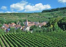 Dorf von Achkarren, Kaiserstuhl-Weinregion, Schwarzwald, Deutschland Lizenzfreie Stockfotografie