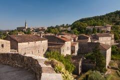 Dorf von Banne, Frankreich Stockbild