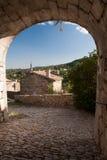 Dorf von Banne, Frankreich Stockfotos
