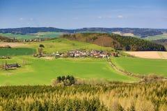Dorf von Bukova, böhmischer Wald, Tschechische Republik Lizenzfreies Stockfoto