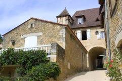 Dorf von Castelnaud Lizenzfreie Stockfotografie