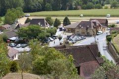 Dorf von Castelnaud Stockfotografie