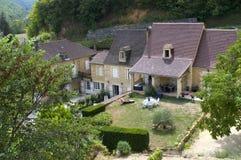 Dorf von Castelnaud Stockbild