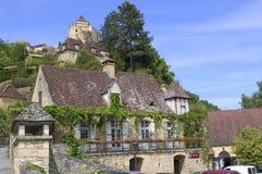 Dorf von Castelnaud Stockfotos
