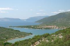 Dorf von Cres, Dalmatien, Kroatien Stockbilder