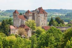 Dorf von Curemonte in Corrèze-Abteilung in Frankreich Stockfotografie