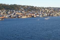 Dorf von Drøbak in Norwegen lizenzfreies stockbild
