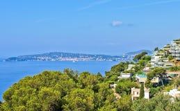 Dorf von Eze auf französischem Riviera stockbild