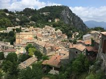 Dorf von Frankreich Lizenzfreie Stockbilder