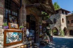 Dorf von Grazzano Visconti Stockbild
