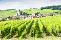 Dorf von Hunawihr, Elsass Stockfotografie