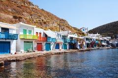 Dorf von Klima Milos Insel, Griechenland Lizenzfreie Stockfotos