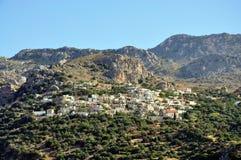 Dorf von Kreta Stockbilder
