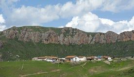 Dorf von Langmusi Lizenzfreies Stockbild