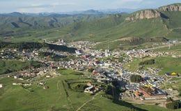 Dorf von Langmusi Lizenzfreie Stockfotografie