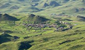 Dorf von Langmusi Lizenzfreie Stockfotos