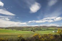 Dorf von Lumsden in Schottland Stockbilder