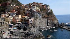 Dorf von Manarola stock video footage
