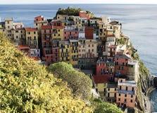 Dorf von Manarola, Cinque Terre Italy Lizenzfreie Stockbilder