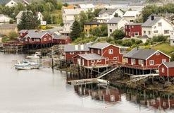 Dorf von Norwegen Lizenzfreie Stockfotos