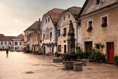 Dorf von Radovljica Stockfotos