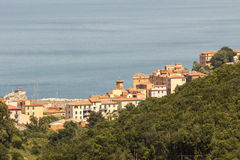 Dorf von Rio Marina, Elba, Toskana, Italien lizenzfreie stockfotos